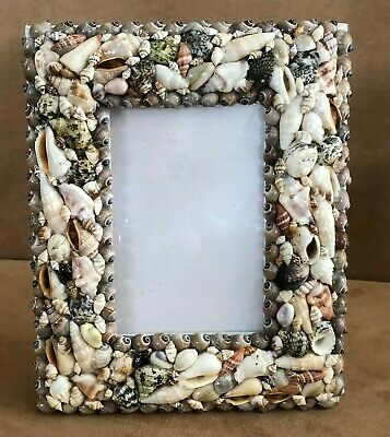 Sea Shell picture frame holds 4x6 photo beach nautical decor Philippines table