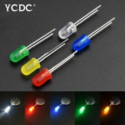 3mm 5mm Red Green Yellow White Color Assorted LED Light Emitting Diodes X100 61