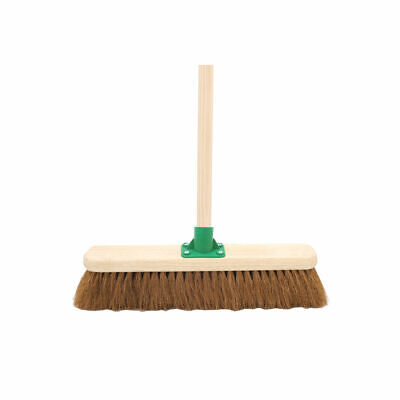 """NEW! Coco Soft Broom with Handle 18 """" G.01/Black T/C4"""