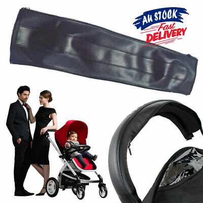 Baby Cover Stroller Pram Protective Grip Case Handle Bar Accessories PU Leather