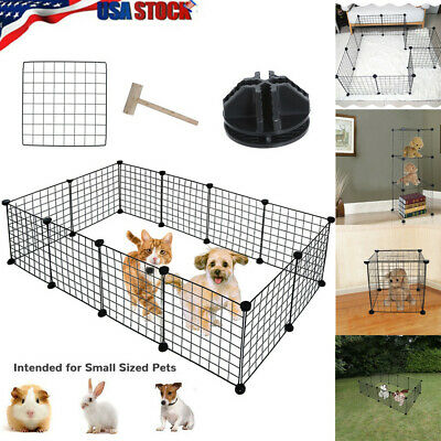 12 Panels Dog Playpen Crate Metal Pets Fence Puppy Kennel Play Pen Exercise Cage