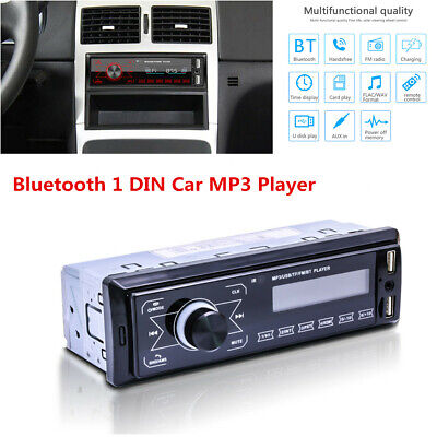 Single 1 DIN Bluetooth Radio Car Stereo MP3/FM/USB/AUX-in Receiver Audio Player