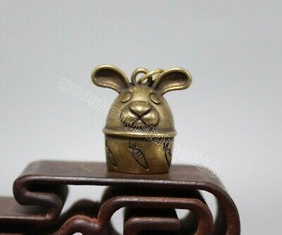 Pure bronze auspicious Chinese Zodiac Animal small bell Tiger amulet Pendant