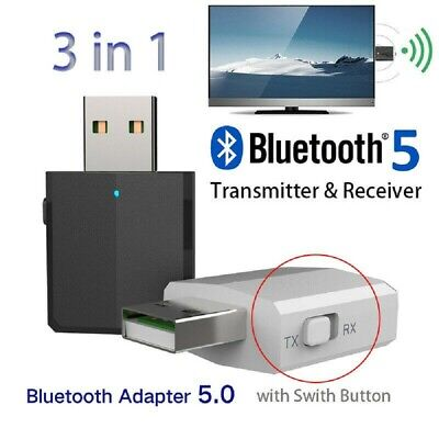 USB Bluetooth 5.0 Transmitter Receiver EDR Adapter for TV PC Headphones Random