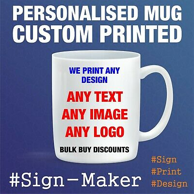 Personalised Printed Custom Mugs,Any Image,Logo,name or text-BUY 3 GET 1 FREE!