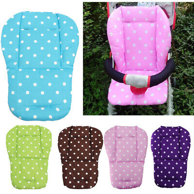 Baby Infant Stroller Seat Pushchair Cushion Cotton Mat White Dot for 0-36 Months