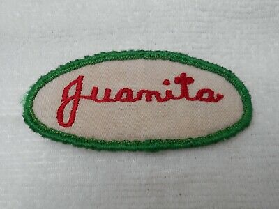 FORKLIFT CERTIFIED USED EMBROIDERED VINTAGE SEW ON NAME PATCH TAG RED ON WHITE