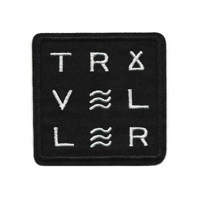 """TRAVELLER IRON ON PATCH 3.5"""" Outdoor Camping Travel Traveler Embroidery Applique"""