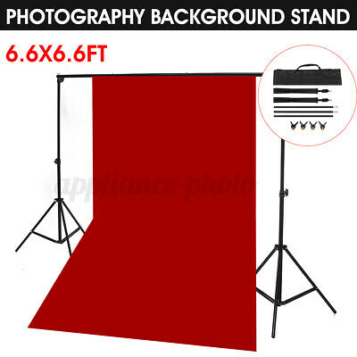 2x2m Adjustable Photography Background Support Stand Photo Backdrop Crossbar UK