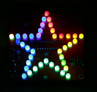 Five Pointed Star LED Music Colorful Flashing Light DIY Kit For Soldering Study