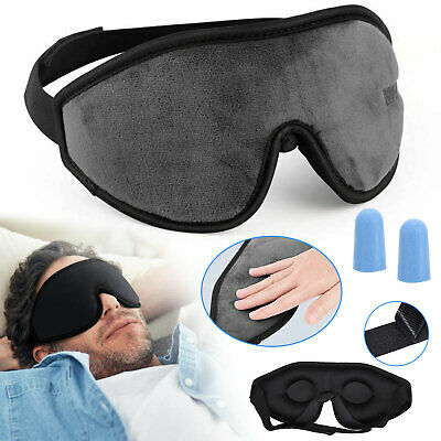 Travel 3D Eye Mask Sleep Soft Padded Shade Cover Relax Sleeping Aid Blindfold US