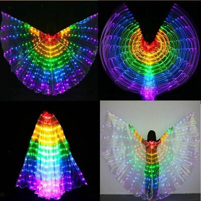 2pcs Belly Dance LED Wings Glow Light Up Wings Egyptian Performance Costumes