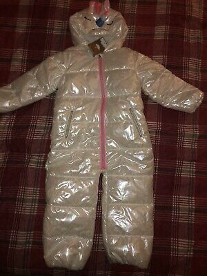 Next Girls 3-4 Unicorn All In One Snowsuit Brand New With Tags