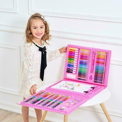 176 Piece Kids Drawing Set Art Paints Colouring School Pencils Crayons Marker UK