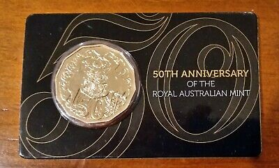 "2015 50 cent Gold Plated Uncirculated Coin: ""50th Anniversary of the RAM"