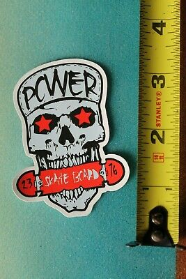 Powerflex Skateboard Patch 6.2in red iron on patch si