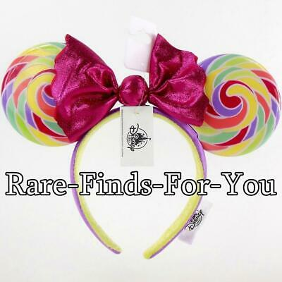 Authentic Disney Parks Minnie Mouse Lollipop Ears Candy Bow Headband (NEW/TAGS)
