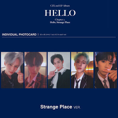 CIX Photocard 2nd EP Album HELLO Chapter 2 Strange Place Version