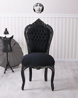 Baroque Chair Dining Room Baroque Chair Black Seating Furniture Eszimmerstuhl
