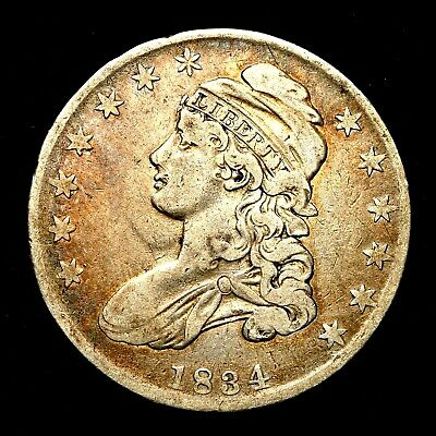 1834 ~**BETTER GRADE**~ Silver Capped Bust Half Dollar Antique US Old Coin! #L83