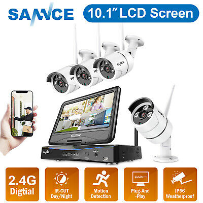 SANNCE Wireless HD 1080P 8CH LCD Monitor NVR WIFI Home Security IP Camera System