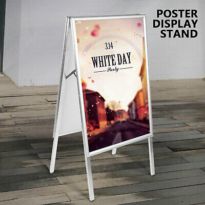 NEW Double Side Sidewalk Pavement A Frame PVC Sandwich Board Dry erase Menu Sign