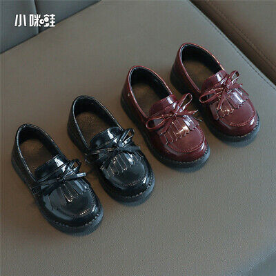 2020New Fringed Girls Leather Shoes Wild Solid Color Single Shoes Princess Shoes