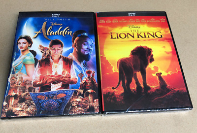 Aladdin Will Smith & Lion King 2019 DVD Live Action Brand New & Sealed