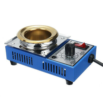 150W 220V AC Soldering Pot Stainless Steel Plate 200-480 Degree Celsius Parts