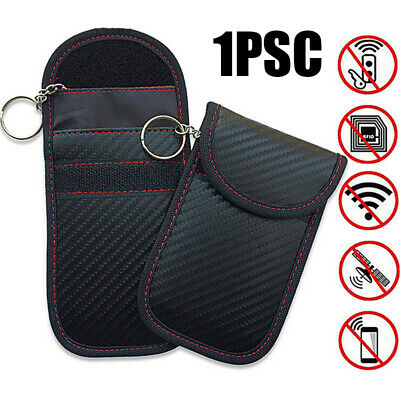 1x Defender Anti Theft Car Key Fob Phone Keyless Signal RFID Blocker Pouch Case