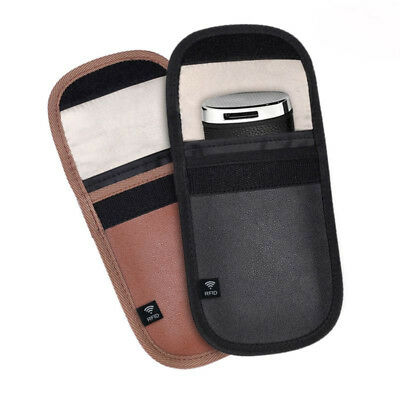 2× Car Key Signal Blocker Fob Case Keyless Rfid Blocking Bag Faraday Cage Newly
