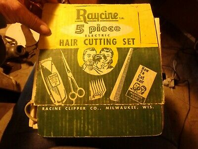 bundle of pet grooming items- raycine & poster clippers, brushes etc.
