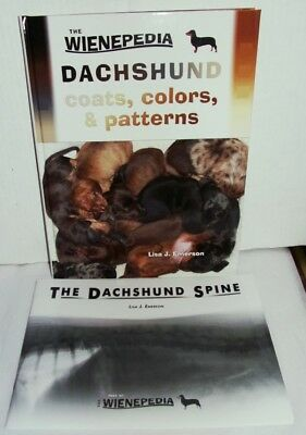 2 Books - Dachshund Coats Colors & Patterns, Plus Dachshund Spine By Emerson