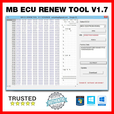 Mercedes Benz ECU Renewal Tool 1.7 ✅  - Secure Download ✅ - Fast Dilevery ✅
