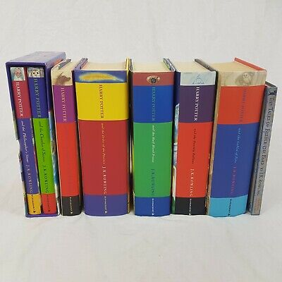 Harry Potter Complete Hardback Book Set 1-7 Bloomsbury JK Rowling First Editions