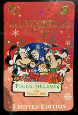 Disney Parks Epcot Festival of the Holidays 2019 Annual Passholder Exclusive Pin