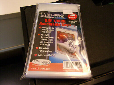 Ultra Pro 100 Bags ONE-TOUCH Resealable Bags