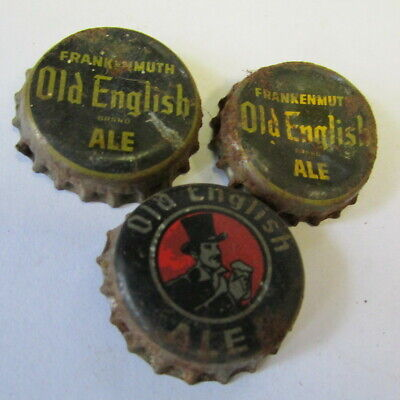 Frankenmuth, Mich. Frankenmuth Brewing 3 Used cork lined crown Beer bottle caps