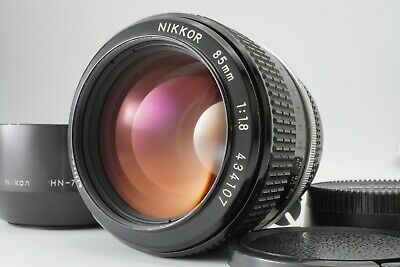 【EXC+5】 NIKON Non-Ai Nikkor 85mm F1.8 W/ Metal Lens Hood HN-7 from Japan #837