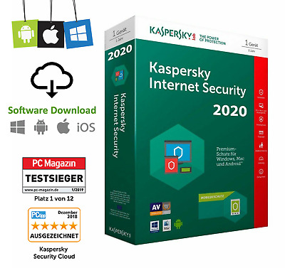 Kaspersky Internet Security 2020 / 2021 deutsch 1 Jahr 1PC Vollversion 1 Device