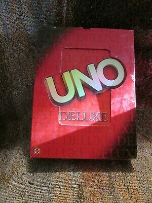 Mattel 2001 UNO DELUXE Card Game #43427 100% Complete Clean Great Condition Nice