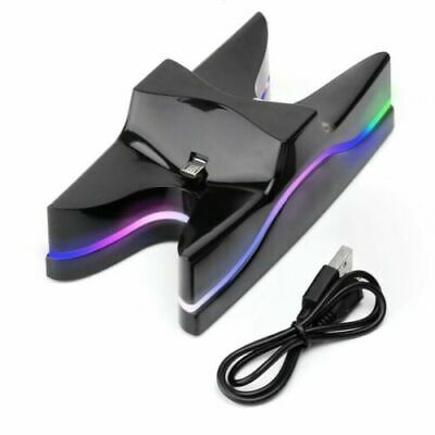 PS4 Controller Ladestation Dual LED Playstation 4 Charger Station Ladegerät Z37