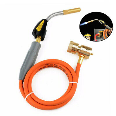 Mapp Gas Self Ignition Plumbing Turbo Torch With Hose Solder Propane Welding