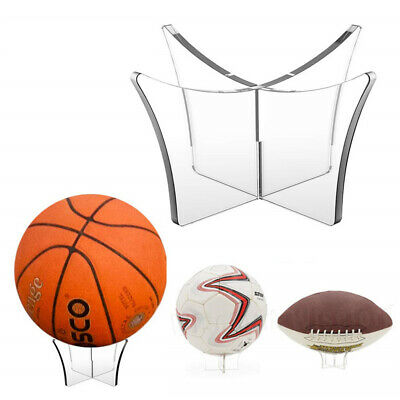 Clear Acrylic Ball Display Stand Basketball Football Rugby Soccer Holder Riser
