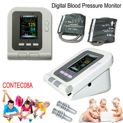 Digital Blood Pressure Monitor Pediatric NIBP HeartBeat Meter Child Infant 2Cuff