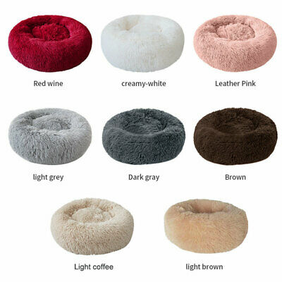 large Luxury Shag Warm Fluffy Pet Bed Dog Puppy Kitten Fur Donut Cushion Mat C