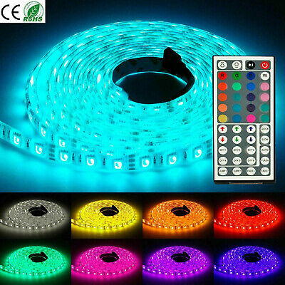 LED Strip Lights 5M 5V 5050 RGB Dimmable  TV Back Lighting+ 44 Remote Control