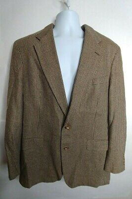 AUSTIN REED GRAY TWEED yellow brown SPORTS COAT JACKET BLAZER MENS SIZE: 44L