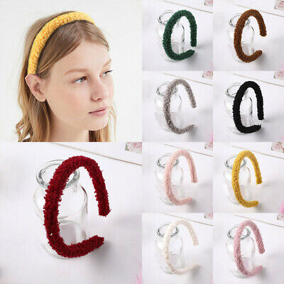 Candy Color Soft Plush Headband Fashion Women Furry Lambswool Head Hoop Headwear