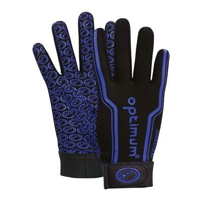 Optimum Sport Velocity Thermal Rugby Gloves Training Insulated Grip-Black Blue